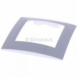 Simon 15 1501610-030 - Ramka pojedyncza - Biały - Podgląd zdjęcia 360st. nr 2