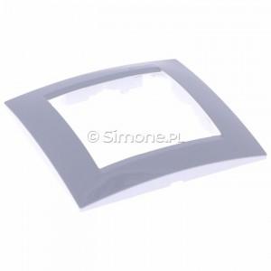 Simon 15 1501610-030 - Ramka pojedyncza - Biały - Podgląd zdjęcia 360st. nr 1