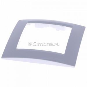 Simon 15 1501610-030 - Ramka pojedyncza - Biały - Podgląd zdjęcia 360st. nr 4