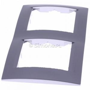 Simon 15 1501620-026 - Ramka podwójna - Aluminium - Podgląd zdjęcia 360st. nr 6