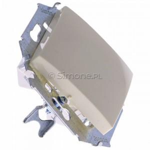 Simon 15 1591101B-031 - Łącznik pojedynczy do wersji IP44 - Beżowy - Podgląd zdjęcia 360st. nr 2