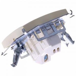 Simon 15 1591101B-031 - Łącznik pojedynczy do wersji IP44 - Beżowy - Podgląd zdjęcia 360st. nr 5