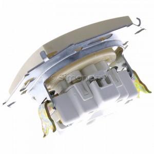 Simon 15 1591414-031 - Gniazdo pojedyncze bez bolca uziemiającego z przesłonami torów prądowych - Beżowy - Podgląd zdjęcia 360st. nr 5