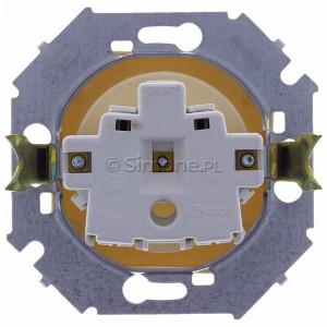 Simon 15 1591414-031 - Gniazdo pojedyncze bez bolca uziemiającego z przesłonami torów prądowych - Beżowy - Podgląd zdjęcia 360st. nr 9