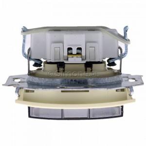 Simon 15 1591940B-031A - Gniazdo hermetyczne pojedyncze do wersji IP44 z bolcem uziemiającym i klapką transparentną - Beżowy - Podgląd zdjęcia 360st. nr 8