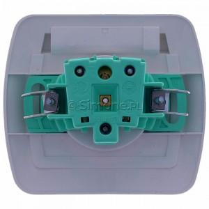 Simon Akord AGZ1Be/11A - Gniazdo hermetyczne pojedyncze z bolcem uziemiającym z klapką transparentną - Biały - Podgląd zdjęcia 360st. nr 9