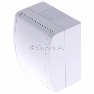 Simon Aquarius AQGZ1/11 - Gniazdo hermetyczne z bolcem uziemiającym i klapką w kolorze wyrobu - Biały - Podgląd zdjęcia 360st. nr 7