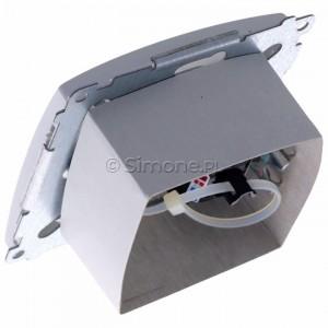 Simon Basic BM61.01/11 - Gniazdo komputerowe pojedyncze 1xRJ45 kat.6 z przesłoną przeciwkurzową - Biały - Podgląd zdjęcia 360st. nr 5