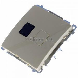 Simon Basic BM61.01/12 - Gniazdo komputerowe pojedyncze 1xRJ45 kat.6 z przesłoną przeciwkurzową - Beżowy - Podgląd zdjęcia 360st. nr 7