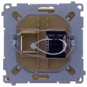 Simon Basic BM61.01/12 - Gniazdo komputerowe pojedyncze 1xRJ45 kat.6 z przesłoną przeciwkurzową - Beżowy - Podgląd zdjęcia 360st. nr 9