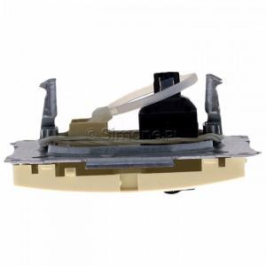 Simon Basic BM61.01/12 - Gniazdo komputerowe pojedyncze 1xRJ45 kat.6 z przesłoną przeciwkurzową - Beżowy - Podgląd zdjęcia 360st. nr 8