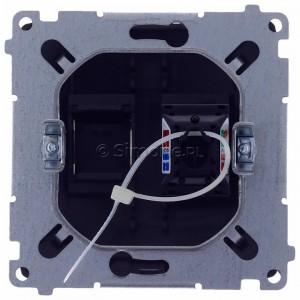 Simon Basic BM61.01/28 - Gniazdo komputerowe pojedyncze 1xRJ45 kat.6 z przesłoną przeciwkurzową - Grafit Mat. - Podgląd zdjęcia 360st. nr 9