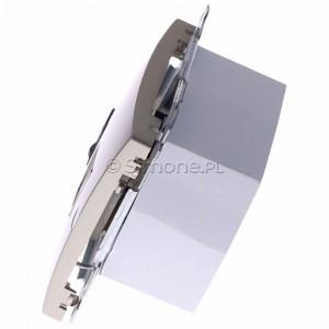 Simon Basic BM61.01/29 - Gniazdo komputerowe pojedyncze 1xRJ45 kat.6 z przesłoną przeciwkurzową - Satynowy Met. - Podgląd zdjęcia 360st. nr 6