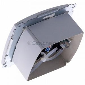 Simon Basic BM62.01/11 - Gniazdo komputerowe podwójne 2xRJ45 kat.6 z przesłoną przeciwkurzową - Biały - Podgląd zdjęcia 360st. nr 5