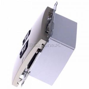 Simon Basic BM62.01/29 - Gniazdo komputerowe podwójne 2xRJ45 kat.6 z przesłoną przeciwkurzową - Satynowy Met. - Podgląd zdjęcia 360st. nr 6