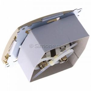 Simon Basic BM62E.01/12 - Gniazdo komputerowe podwójne 2xRJ45 kat.6 ekranowane z przesłoną przeciwkurzową - Beżowy - Podgląd zdjęcia 360st. nr 5