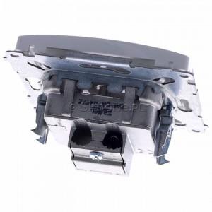 Simon Basic BMAD1.01/11 - Gniazdo antenowe TV-DATA, dwa porty wyjściowe typu F - Biały - Podgląd zdjęcia 360st. nr 4