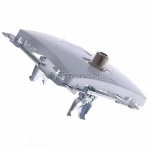 Simon Basic BMAF1.01/11 - Gniazdo antenowe SAT typu F pojedyncze - Biały - Podgląd zdjęcia 360st. nr 3