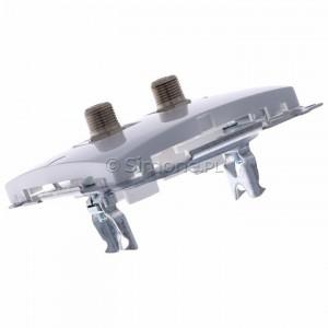 Simon Basic BMAF2.01/11 - Gniazdo antenowe SAT typu F podwójne - Biały - Podgląd zdjęcia 360st. nr 5