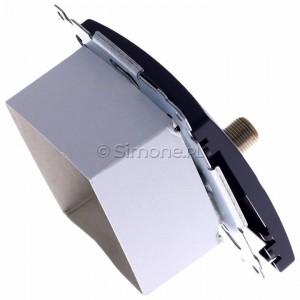 Simon Basic BMAFRJ45.01/28 - Gniazdo antenowe SAT pojedyncze + Gniazdo komputerowe kat.6 - Grafit Mat. - Podgląd zdjęcia 360st. nr 3