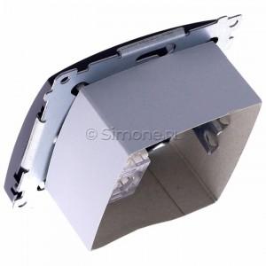 Simon Basic BMAFRJ45.01/28 - Gniazdo antenowe SAT pojedyncze + Gniazdo komputerowe kat.6 - Grafit Mat. - Podgląd zdjęcia 360st. nr 5