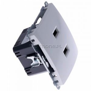 Simon Basic BMC2USB.01/11 - Podwójna ładowarka USB - Biały - Podgląd zdjęcia 360st. nr 2