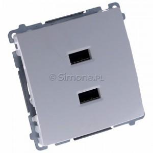 Simon Basic BMC2USB.01/11 - Podwójna ładowarka USB - Biały - Podgląd zdjęcia 360st. nr 1