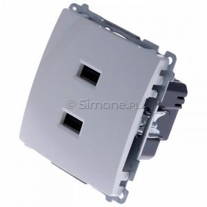 Simon Basic BMC2USB.01/11 - Podwójna ładowarka USB - Biały - Podgląd zdjęcia 360st. nr 7