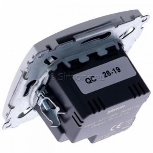 Simon Basic BMC2USB.01/11 - Podwójna ładowarka USB - Biały - Podgląd zdjęcia 360st. nr 5