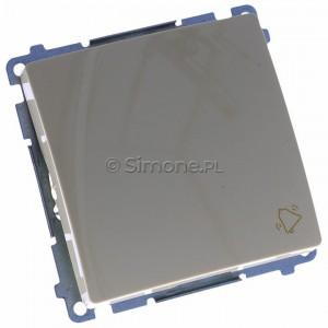 Simon Basic BMD1.01/12 - Przycisk zwierny dzwonek 10A - Beżowy - Podgląd zdjęcia 360st. nr 1