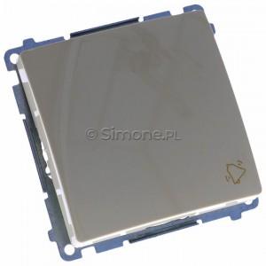 Simon Basic BMD1A.01/12 - Przycisk zwierny dzwonek 16A - Beżowy - Podgląd zdjęcia 360st. nr 1