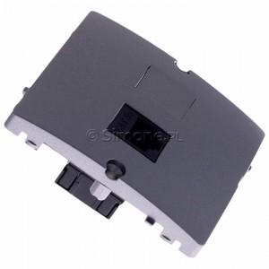 Simon Basic BMF51.02/21 - Gniazdo komputerowe pojedyncze 1xRJ45 kat.5e - Inox Met. - Podgląd zdjęcia 360st. nr 2
