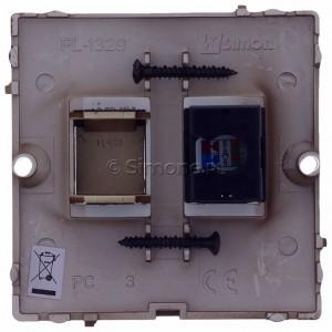 Simon Basic BMF51.02/47 - Gniazdo komputerowe pojedyncze 1xRJ45 kat.5e - Czekoladowy - Podgląd zdjęcia 360st. nr 9