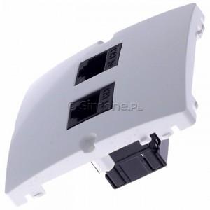 Simon Basic BMF52.02/11 - Gniazdo komputerowe podwójne 2xRJ45 kat.5e - Biały - Podgląd zdjęcia 360st. nr 6