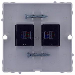 Simon Basic BMF52.02/11 - Gniazdo komputerowe podwójne 2xRJ45 kat.5e - Biały - Podgląd zdjęcia 360st. nr 9
