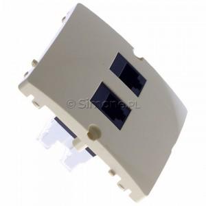 Simon Basic BMF52.02/12 - Gniazdo komputerowe podwójne 2xRJ45 kat.5e - Beżowy - Podgląd zdjęcia 360st. nr 2