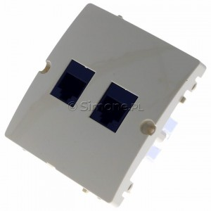 Simon Basic BMF52.02/12 - Gniazdo komputerowe podwójne 2xRJ45 kat.5e - Beżowy - Podgląd zdjęcia 360st. nr 7