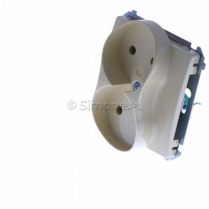 Simon Basic BMG2M.01/12 - Gniazdo podwójne bez bolca uziemiającego - Beżowy - Podgląd zdjęcia 360st. nr 7