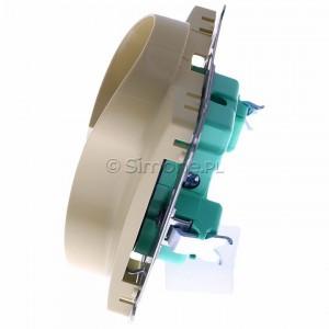 Simon Basic BMG2M.01/12 - Gniazdo podwójne bez bolca uziemiającego - Beżowy - Podgląd zdjęcia 360st. nr 6