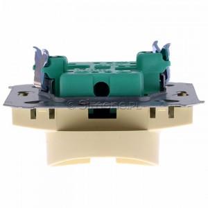 Simon Basic BMG2M.01/12 - Gniazdo podwójne bez bolca uziemiającego - Beżowy - Podgląd zdjęcia 360st. nr 8
