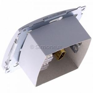 Simon Basic BMGHRJ45.01/11 - Gniazdo HDMI pojedyncze + Gniazdo komputerowe kat.6 - Biały - Podgląd zdjęcia 360st. nr 5