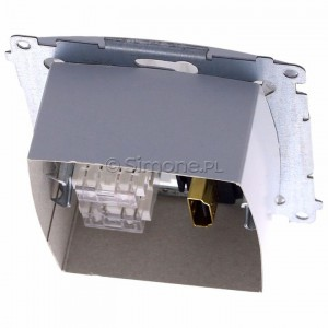 Simon Basic BMGHRJ45.01/11 - Gniazdo HDMI pojedyncze + Gniazdo komputerowe kat.6 - Biały - Podgląd zdjęcia 360st. nr 4
