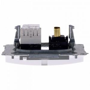 Simon Basic BMGHRJ45.01/11 - Gniazdo HDMI pojedyncze + Gniazdo komputerowe kat.6 - Biały - Podgląd zdjęcia 360st. nr 8