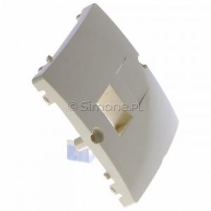 Simon Basic BMGK1P/11 - Pokrywa podwójna płaska do wkładów gniazd teleinformatycznych RJ11/RJ12/RJ45 typu Keystone - Biały - Podgląd zdjęcia 360st. nr 2