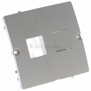 Simon Basic BMGK1P/11 - Pokrywa podwójna płaska do wkładów gniazd teleinformatycznych RJ11/RJ12/RJ45 typu Keystone - Biały - Podgląd zdjęcia 360st. nr 1