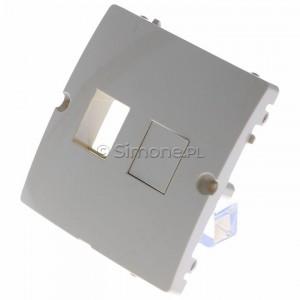 Simon Basic BMGK1P/11 - Pokrywa podwójna płaska do wkładów gniazd teleinformatycznych RJ11/RJ12/RJ45 typu Keystone - Biały - Podgląd zdjęcia 360st. nr 7