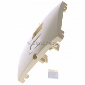Simon Basic BMGK1P/11 - Pokrywa podwójna płaska do wkładów gniazd teleinformatycznych RJ11/RJ12/RJ45 typu Keystone - Biały - Podgląd zdjęcia 360st. nr 6
