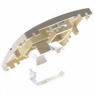Simon Basic BMGK1P/11 - Pokrywa podwójna płaska do wkładów gniazd teleinformatycznych RJ11/RJ12/RJ45 typu Keystone - Biały - Podgląd zdjęcia 360st. nr 5