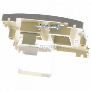 Simon Basic BMGK1P/11 - Pokrywa podwójna płaska do wkładów gniazd teleinformatycznych RJ11/RJ12/RJ45 typu Keystone - Biały - Podgląd zdjęcia 360st. nr 4
