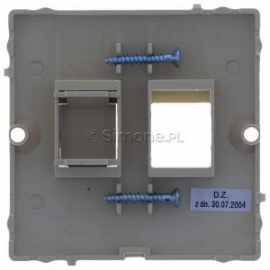 Simon Basic BMGK1P/11 - Pokrywa podwójna płaska do wkładów gniazd teleinformatycznych RJ11/RJ12/RJ45 typu Keystone - Biały - Podgląd zdjęcia 360st. nr 9